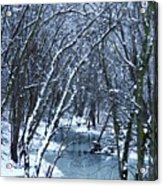 The Winter Stream  Acrylic Print