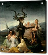 The Witches' Sabbath Acrylic Print by Goya