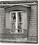 The Woman At The Window Acrylic Print by Philippe Taka