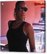 The Woman In Black Acrylic Print