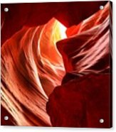 The Woman In The Canyon Acrylic Print