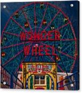 The Wonder Wheel At Luna Park Acrylic Print