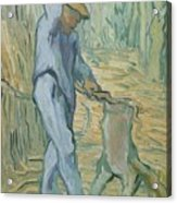 The Woodcutter After Millet Saint Remy De Provence September 1889 Vincent Van Gogh 1853  1890 Acrylic Print