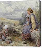 The Woodcutter's Children Acrylic Print