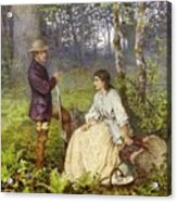 The Woodland Encounter  Acrylic Print