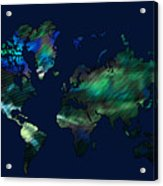 The World In Blues Acrylic Print