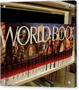 The World In The Library - Encyclopedias Acrylic Print
