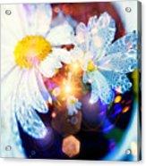 The World Of Dancing Flowers Acrylic Print