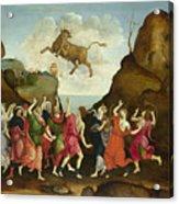The Worship Of The Egyptian Bull God Apis Acrylic Print