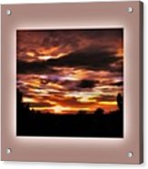 The Wow In A Sunset Acrylic Print