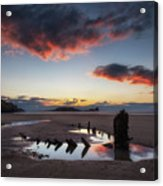 The Wreck Of The Helvetia And Worms Head Acrylic Print