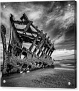 The Wreck Of The Peter Iredale Acrylic Print