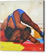 The Wrestlers Acrylic Print