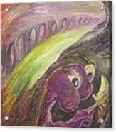 The Yellow Butterfly Visits The Hermit Of The Purple Planet Acrylic Print