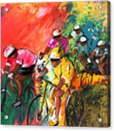 The Yellow River Of The Tour De France Acrylic Print