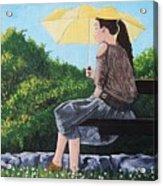 The Yellow Umbrella Acrylic Print