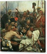 The Zaporozhye Cossacks Writing A Letter To The Turkish Sultan Acrylic Print