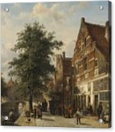 The Zuiderhavendijk, Enkhuizen, 1868 Acrylic Print