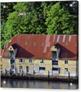 The 1905 Wooden Andreas Odfjell Warehouse On Bergen Harbor Acrylic Print
