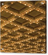 Theater Ceiling Marquee Lights Acrylic Print