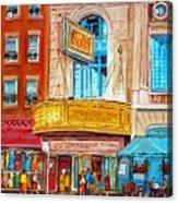 Theatre Rialto Ave. Du Parc Montreal Acrylic Print