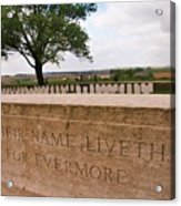 Their Name Liveth For Evermore Acrylic Print