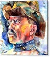 Theodore Roosevelt Painting Acrylic Print