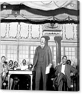 Theodore Roosevelt Speaking At National Acrylic Print by Everett