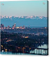 The_olympics_over_seattle Acrylic Print
