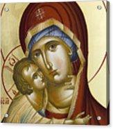Theotokos Acrylic Print by Julia Bridget Hayes