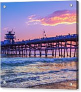 There Will Be Another One - San Clemente Pier Sunset Acrylic Print