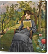 Therese Reading In The Park Of Meric Acrylic Print