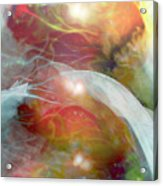 Theta Brain Waves Acrylic Print by Linda Sannuti