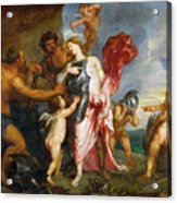 Thetis Receiving The Weapons Of Achilles From Hephaestus Acrylic Print
