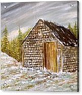 Thewoodshed Acrylic Print by Norman F Jackson