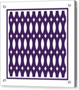 Thick Curved Trellis With Border In Purple Acrylic Print