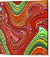 Thick Paint Orange Abstract Acrylic Print