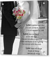 Things To Remember About Love - Black And White #3 Acrylic Print