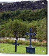 Thingvellir Church Cemetery, Iceland Acrylic Print