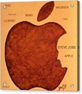 Think Different Steve Jobs 2 Acrylic Print by Georgeta  Blanaru