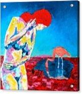 Thinking Woman Acrylic Print