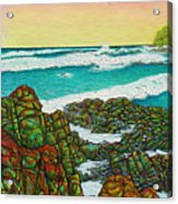 Third Bay Coolum Beach Triptych Acrylic Print
