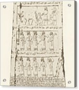 Third Side Of Obelisk, Illustration From Monuments Of Nineveh Acrylic Print