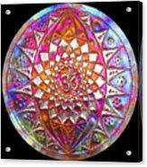 Third Up Kupfer Lichtmandala Acrylic Print