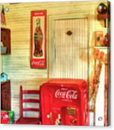 Thirst-quencher Old Coke Machine Acrylic Print