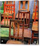 Thirteen Chairs Acrylic Print