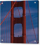 This Is A Close Up Of The Golden Gate Acrylic Print