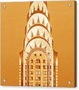 Chrysler Building At Sunset Acrylic Print