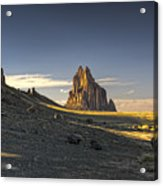 This Is New Mexico No. 2 - Shiprock World Wonder Acrylic Print by Paul W Sharpe Aka Wizard of Wonders