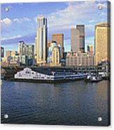 This Is The Skyline And Harbor Acrylic Print